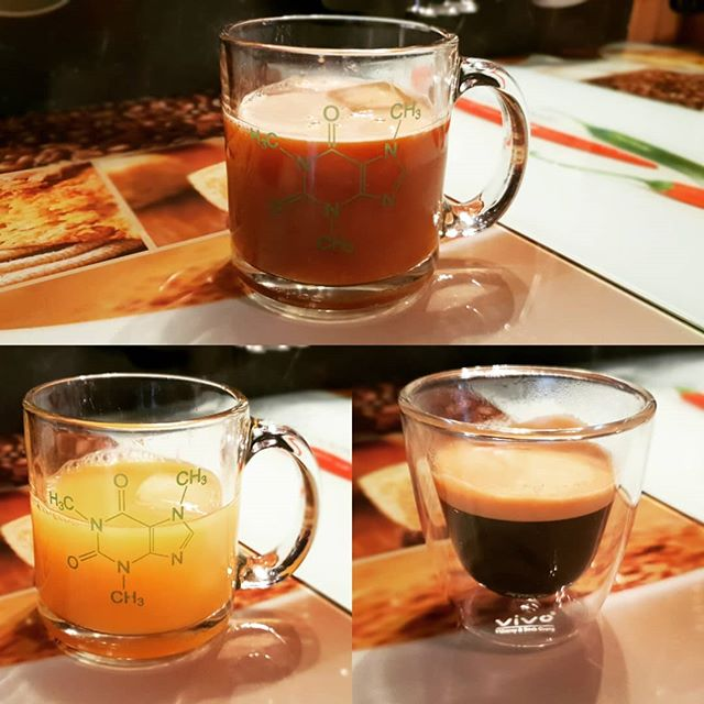 My lovely morning kickstart drink. It's the child of #orangejuice and a #espresso #iloveit #nespresso #happyday #morning #kickstart