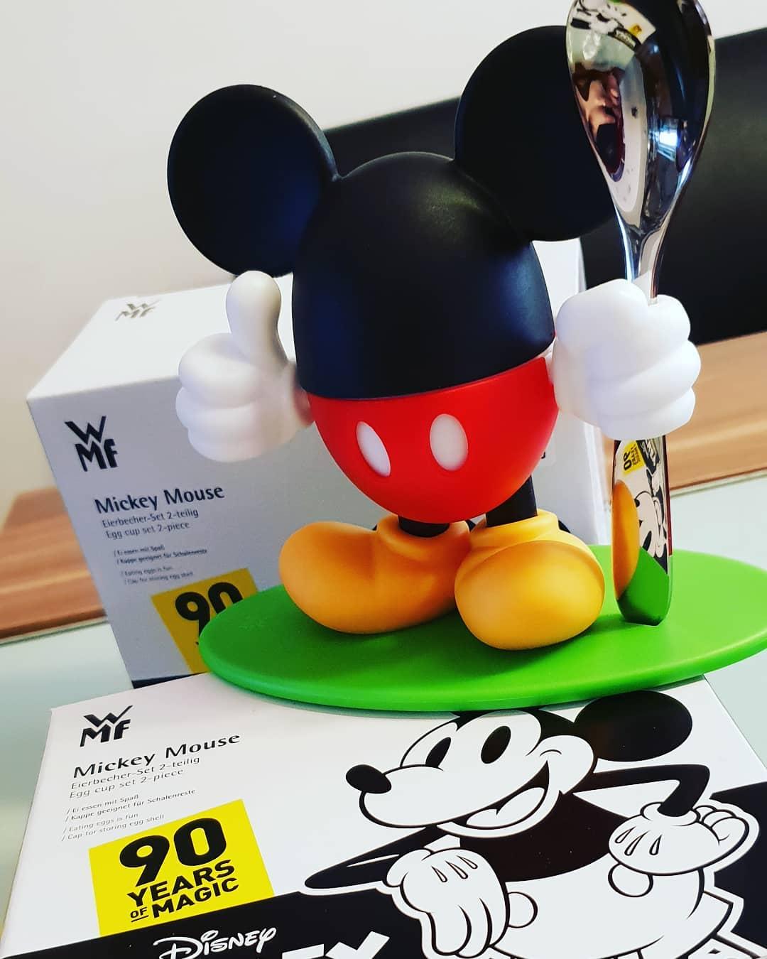 #mickeymouse #eierBecher #90yearsofmickey @wmf_austria #disney #breakfast #happybirthdaymickey