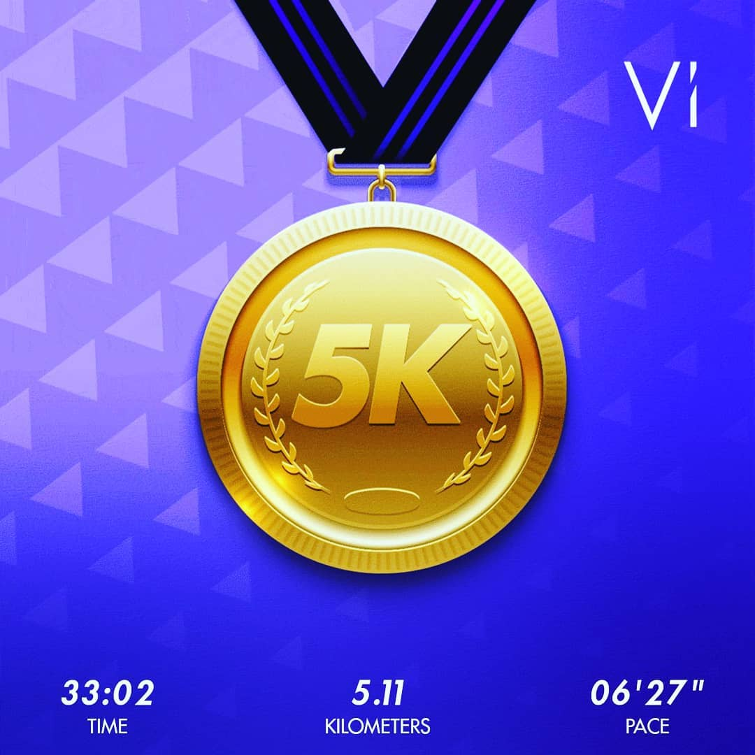 Finish the #vi5k virtual race ?????? It was windy..it was cold ..but i finished it! ?  #trainwithvi #running #instarunning #runner #runnerdrun