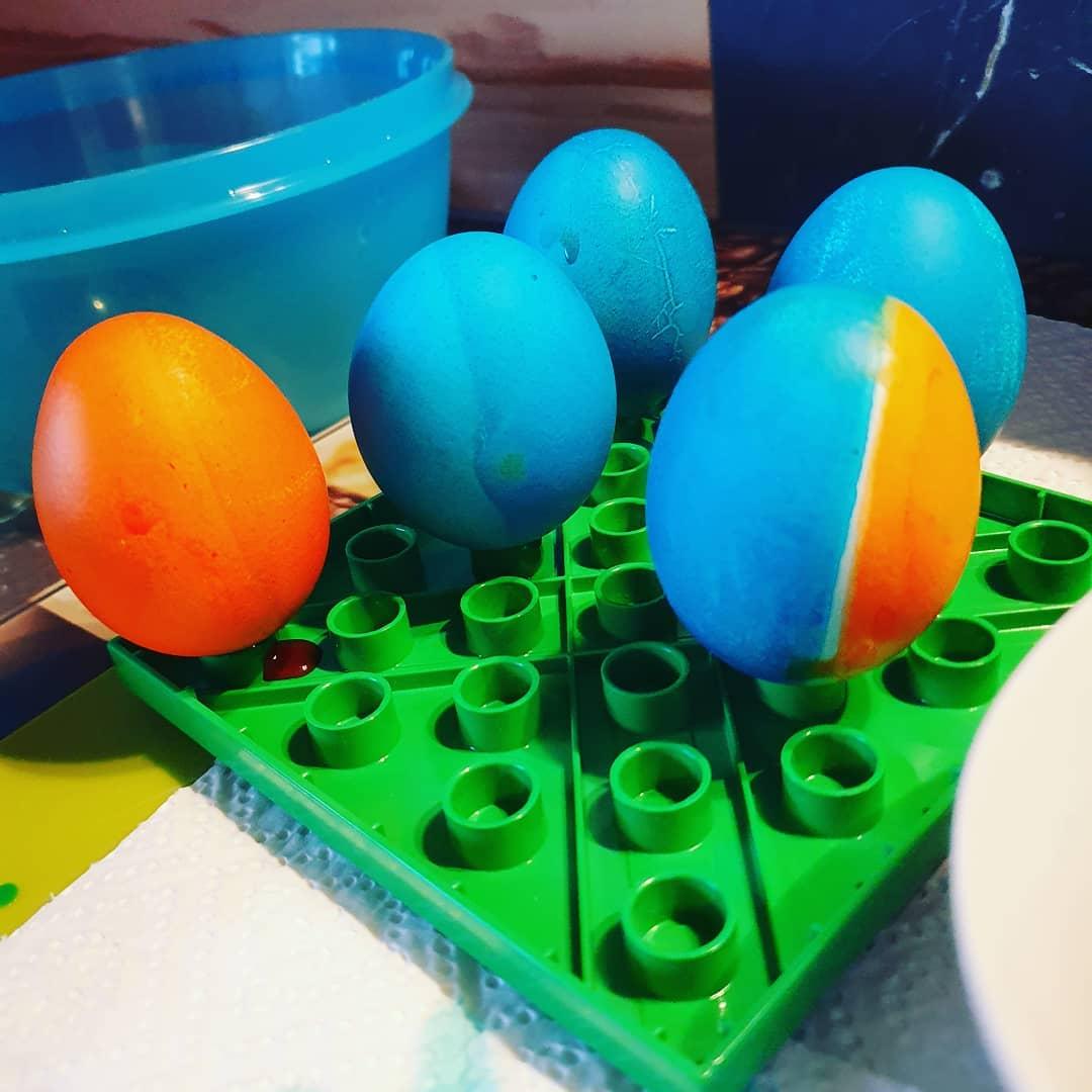 #eier färben #lego Style 😁