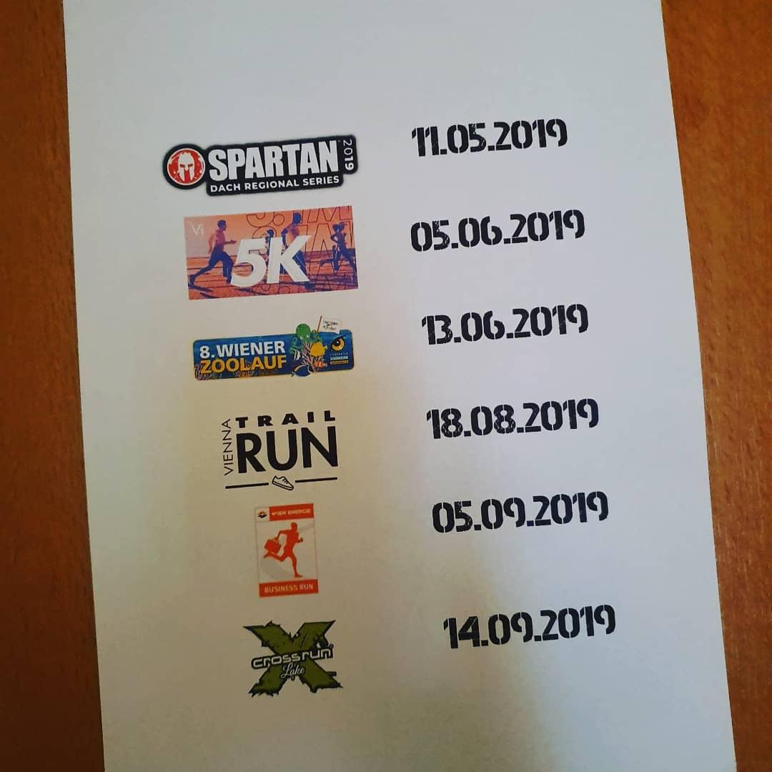 Da mein geplanter Lauf im Oktober ins Wasser fällt wurde er durch einen virtuellen Lauf im Juni ersetzt #vi5k #trainwithvi #spartanrace #viennatrailrun