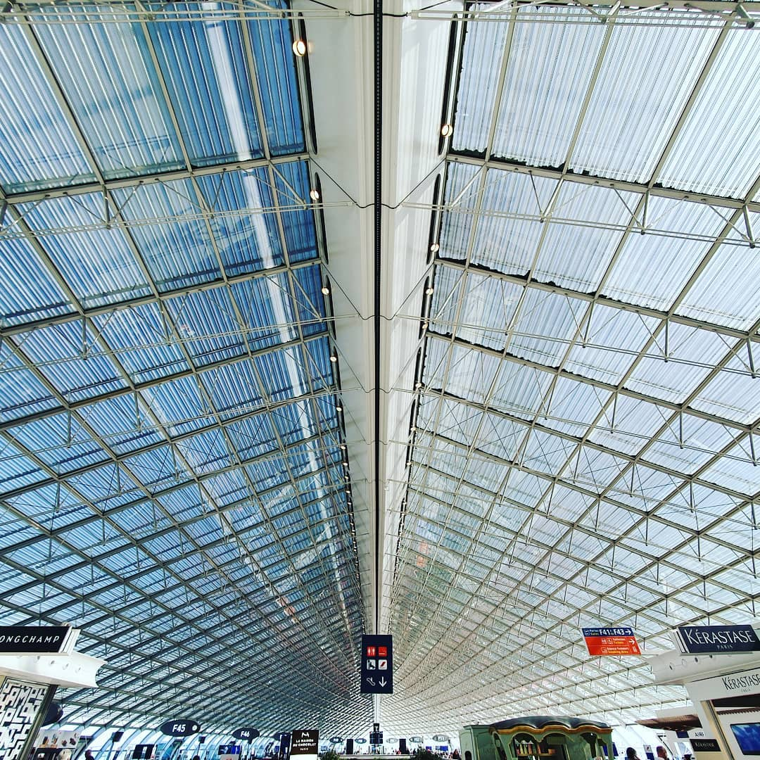 Terminal 2F at Charles de Gaulle Airport in france  #Paris #Airport #architecture  #architecturephotography  #smartphonephotography  #galaxys10plus  #travel