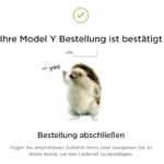 Model Y Bestellung
